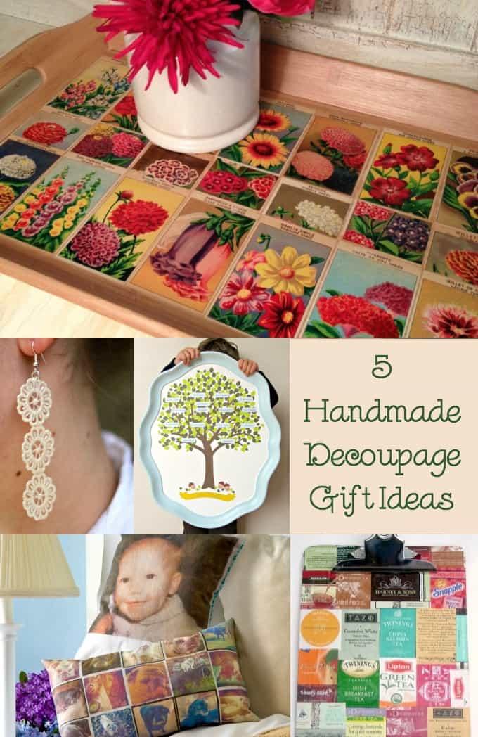 5 handmade decoupage gift ideas