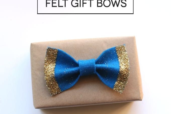 Are you looking for an inexpensive way to decorate gifts? These DIY bows made from felt are the perfect solution - with some added sparkle!