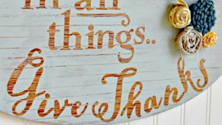 EASY Rustic Style Thanksgiving Sign