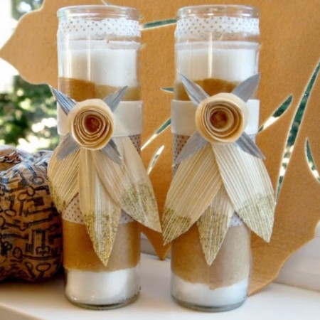 These inexpensive candles would make great holiday table decor - and are also perfect for hostess gifts!