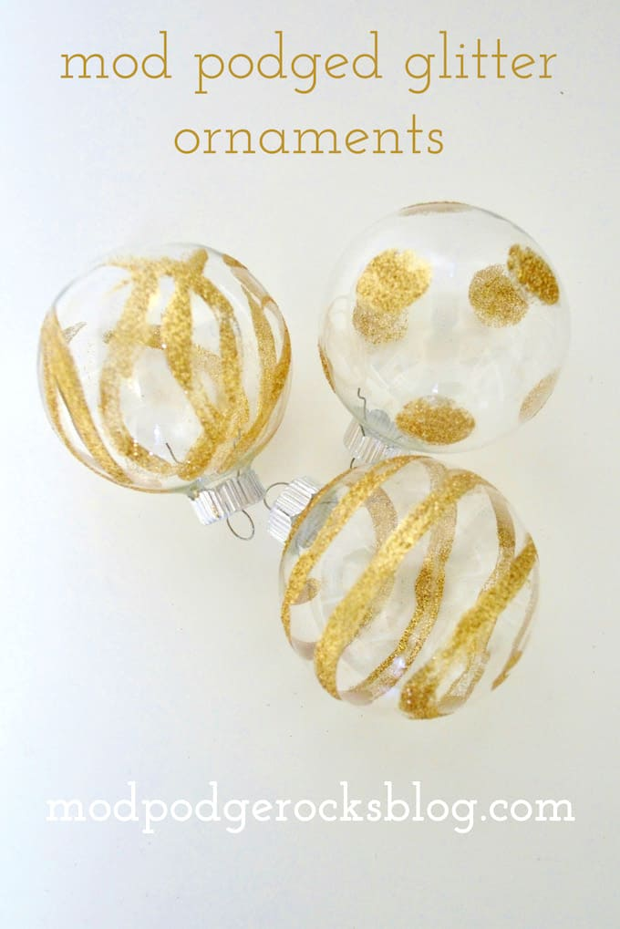 Mod Podge Glitter Ornaments Your Tree is Begging For