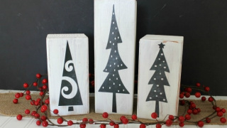 Chalkboard DIY Christmas Trees