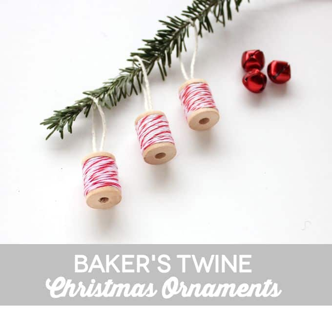 Spool Ornaments Made with Baker's Twine