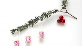 Easy Baker's Twine Wrapped Christmas Ornaments