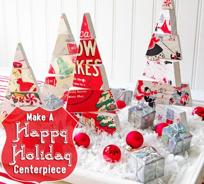 I've been imagining these dimensional Christmas centerpiece for weeks and finally found time to try out the idea! You'll love these cool trees!