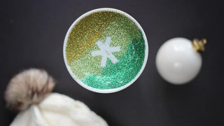 Glittering Snowflake Trinket Dish for a Sparkly Winter
