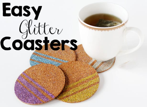 Glitter Coasters to Impress Your Guests