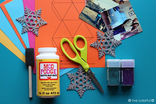 Last Minute Paper Christmas Ornaments | Live Colorful for Mod Podge Rocks Blog