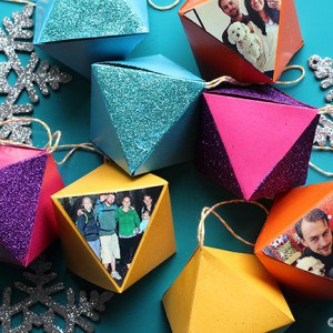 Last minute decoupage paper ornaments
