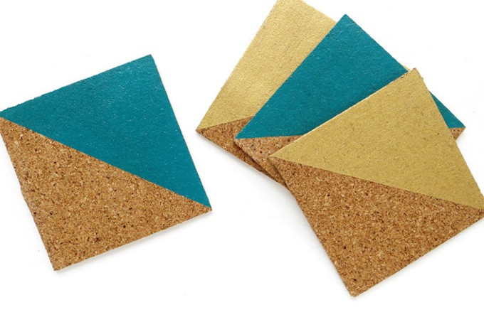 If you want a different take on plain coasters, try these color-block DIY coasters - so easy to make, and so colorful!