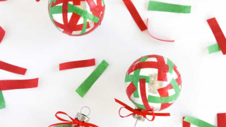 Easy Confetti DIY Christmas Ornaments