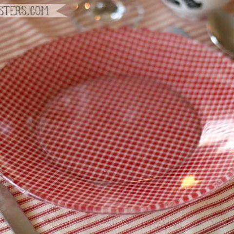 Glass Christmas plates