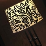 Create a whimsical DIY lampshade with cut paper