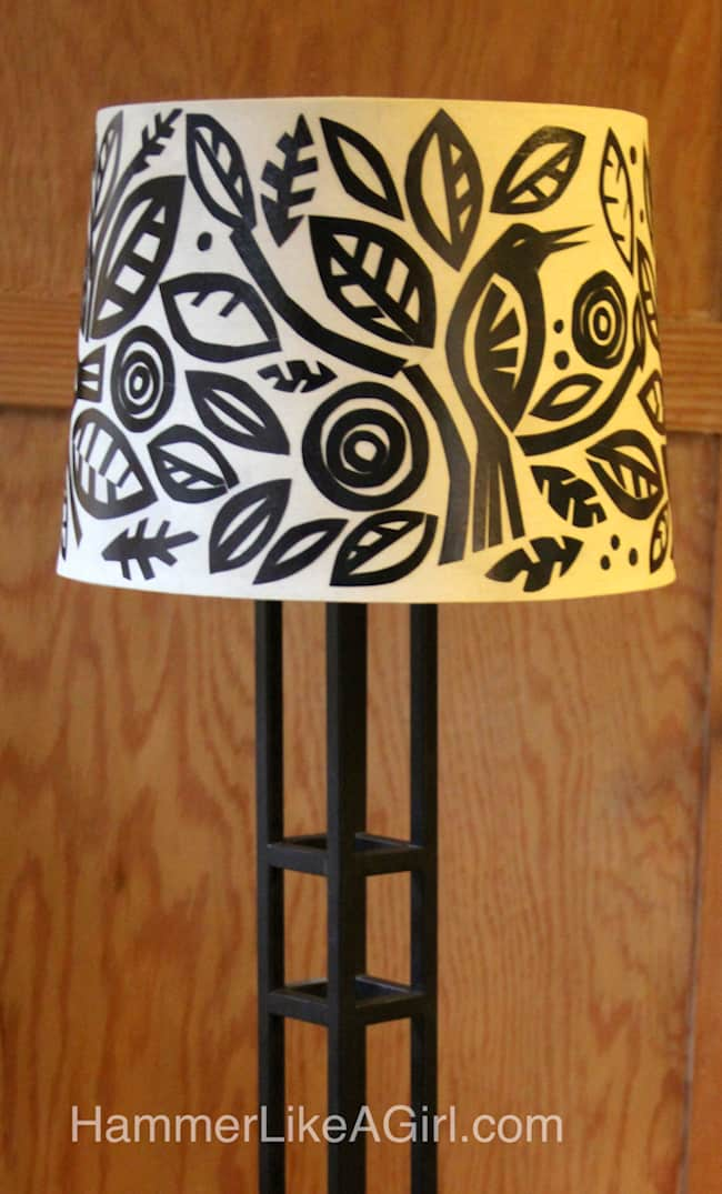 Whimsical Mod Podge Paper Lamp Shade