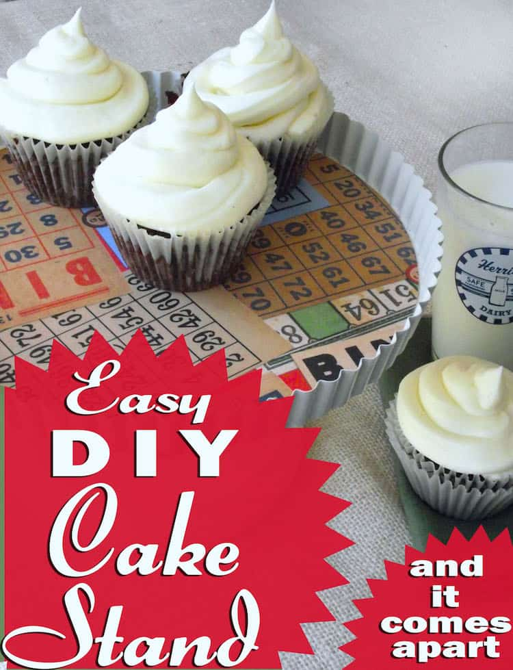 Learn how to make a DIY cake stand from thrift store materials and basic hardware. & DIY cake stand from a thrift store tart plate - Mod Podge Rocks