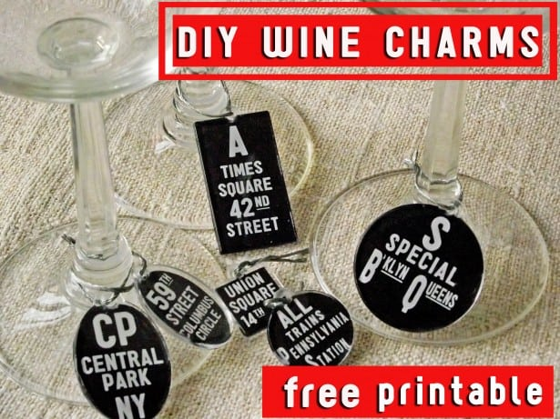 Free Pintable DIY Mod Podge Wine Charms Cheltenham Road for Mod Podge Rocks