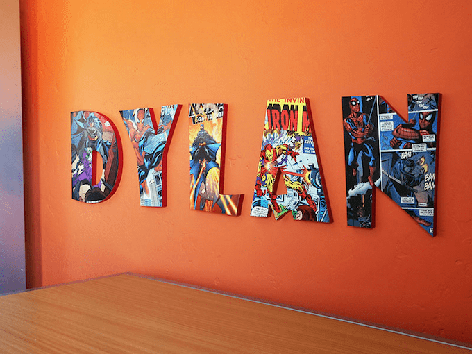 how to make comic book letters decoupage