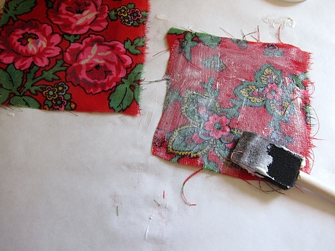 felt and fabric DIY decoupage coasters