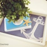 This wood tray was a $3 thrift store find - check out the before and after in this nautical upcycle using decoupage!