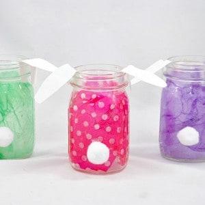Easter mason jars: DIY bunnies