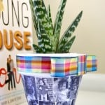 This Mod Podge DIY planter is a great Mother's Day gift for moms and grandparents alike, and would also make an adorable Easter gift or centerpiece.