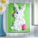 Easter bunny tissue paper canvas