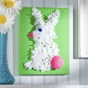 Easter craft for kids: bunny canvas