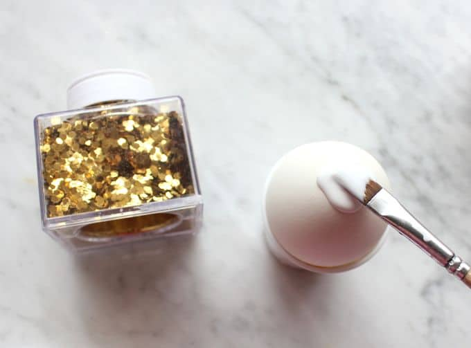 Gold Confetti Dipped Easter Eggs