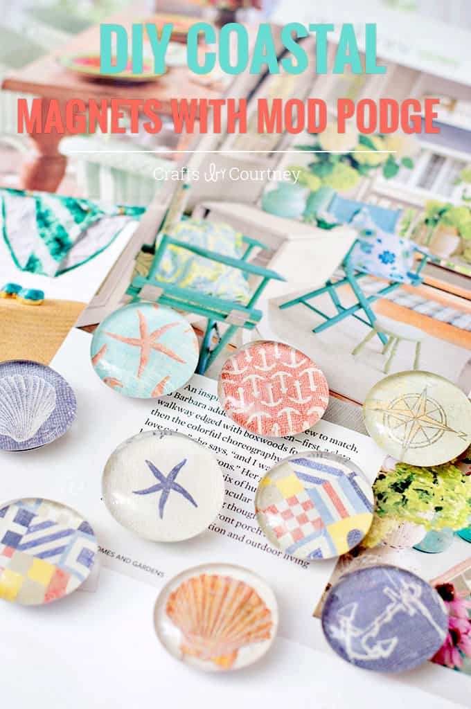 craft ideas using mod podge nautical themed diy magnets mod podge rocks 6303