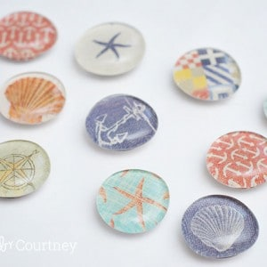 Nautical themed DIY magnets