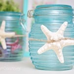 Have you tried the Mod Podge Sheer Colors? They are so easy to use - make these simple, pretty storage jars in just a few minutes!