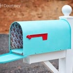 Unique mailboxes - turquoise mailbox with a coastal theme