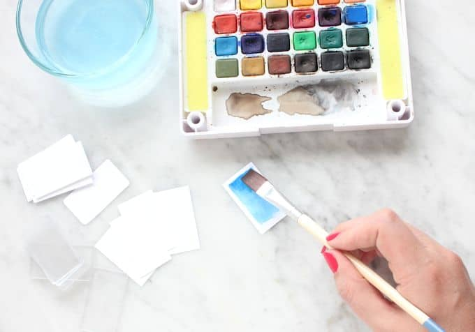 Step 1 - Watercolor Magnets