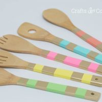 Easy Wooden Spoon Makeover: Paint + Mod Podge