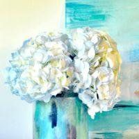 Decoupage Watercolor DIY Vase