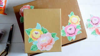 Floral Embellished DIY Gift Box