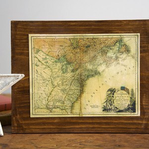 Vintage style Mod Podge map craft