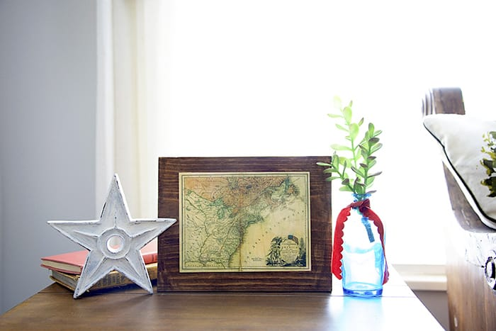 Use Mod Podge and a cool vintage map from the Library of Congress to make this decoupage art. It'll look great with your home decor!