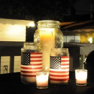 Easy American flag DIY lanterns