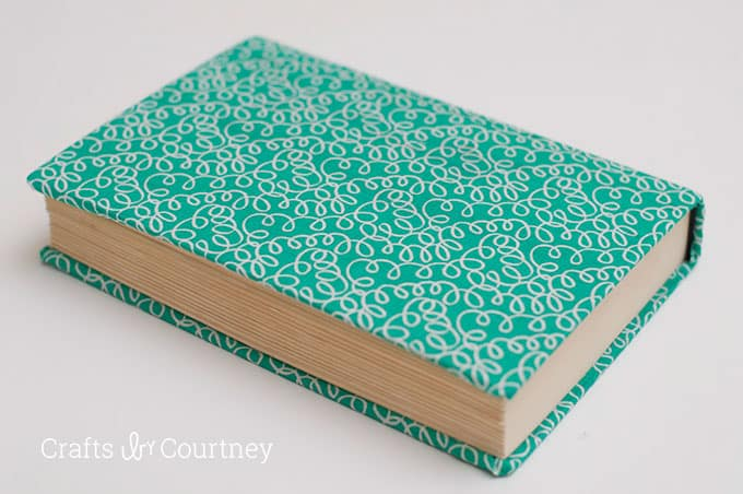 Fabric Covered Book ~ Fabric covered books with mod podge rocks