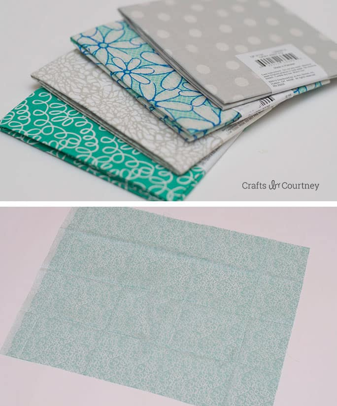 Fabric Covered Books with Mod Podge