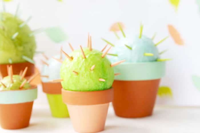 Toothpick cactus craft for kids