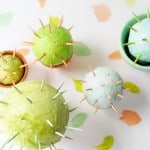 Toothpick cacti craft for kids