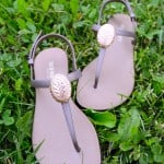Medallion-embellished sandals with Mod Melts