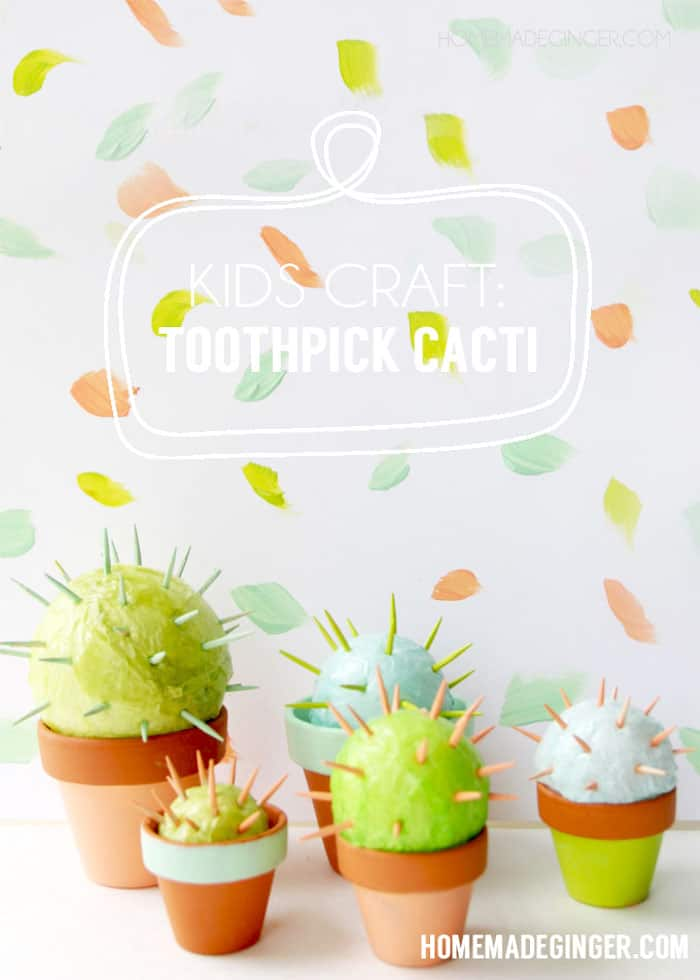 Toothpick Craft: Make a Cool Cactus for Kids