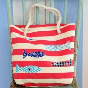 DIY decoupage summer tote