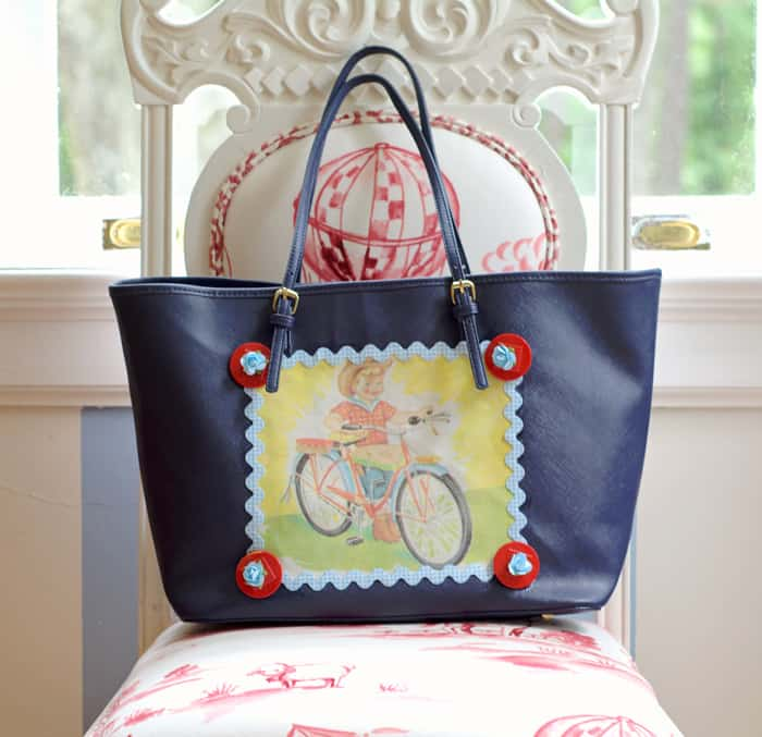 This summer tote is so easy to decorate - just use your favorite fabrics and Mod Podge to make appliqué patches! Learn how to make it your own.
