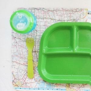Waterproof map DIY placemat