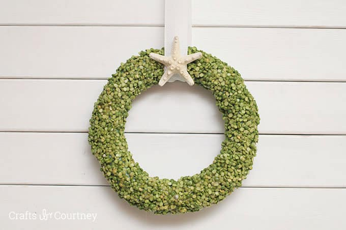Make a summer door wreath on a budget