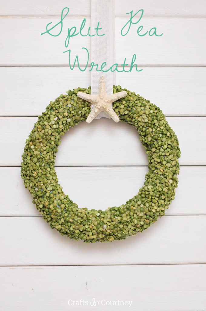 Split Pea Summer Wreath in Four Easy Steps
